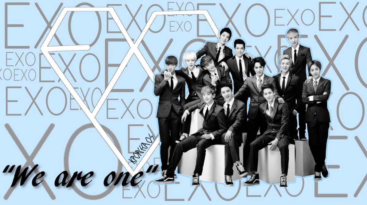 BlackPearlLuver Exo wallpaper Exo Logo Wallpaper 1195x668