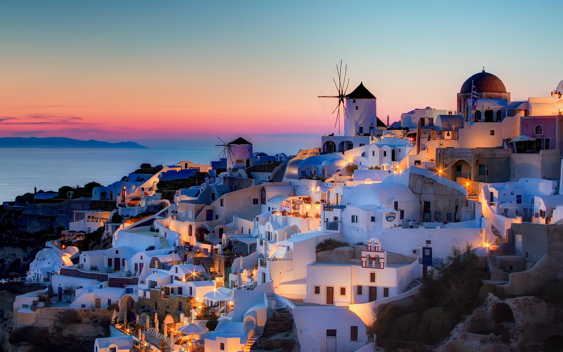 Santorini Wallpaper Deskto HD Wallpaper Background Images 1920x1200