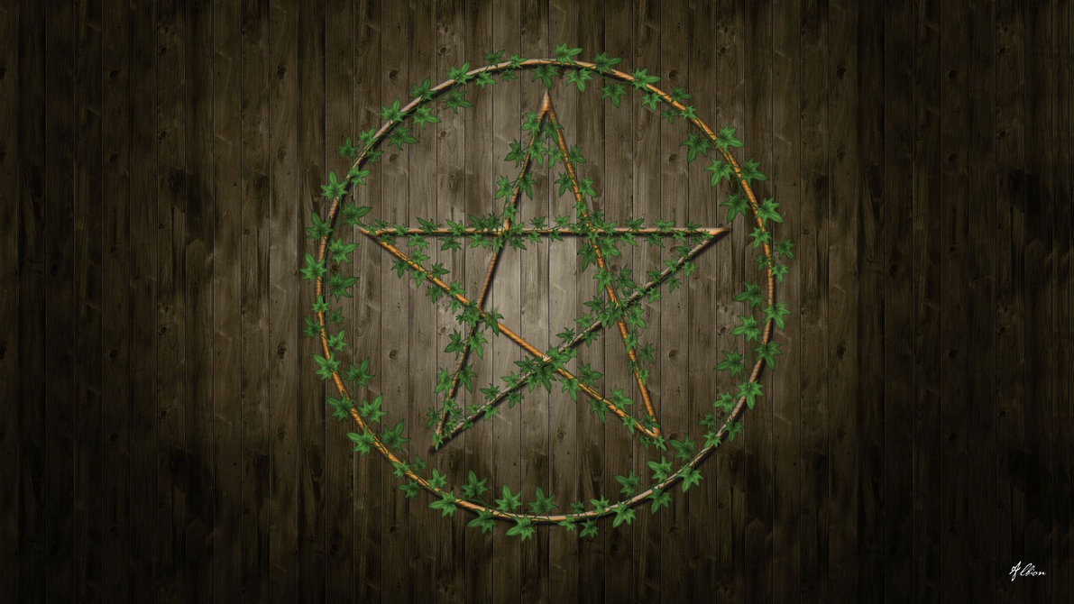 Inverted pentagram wallpaper wallpapersafari - Wiccan screensavers ...