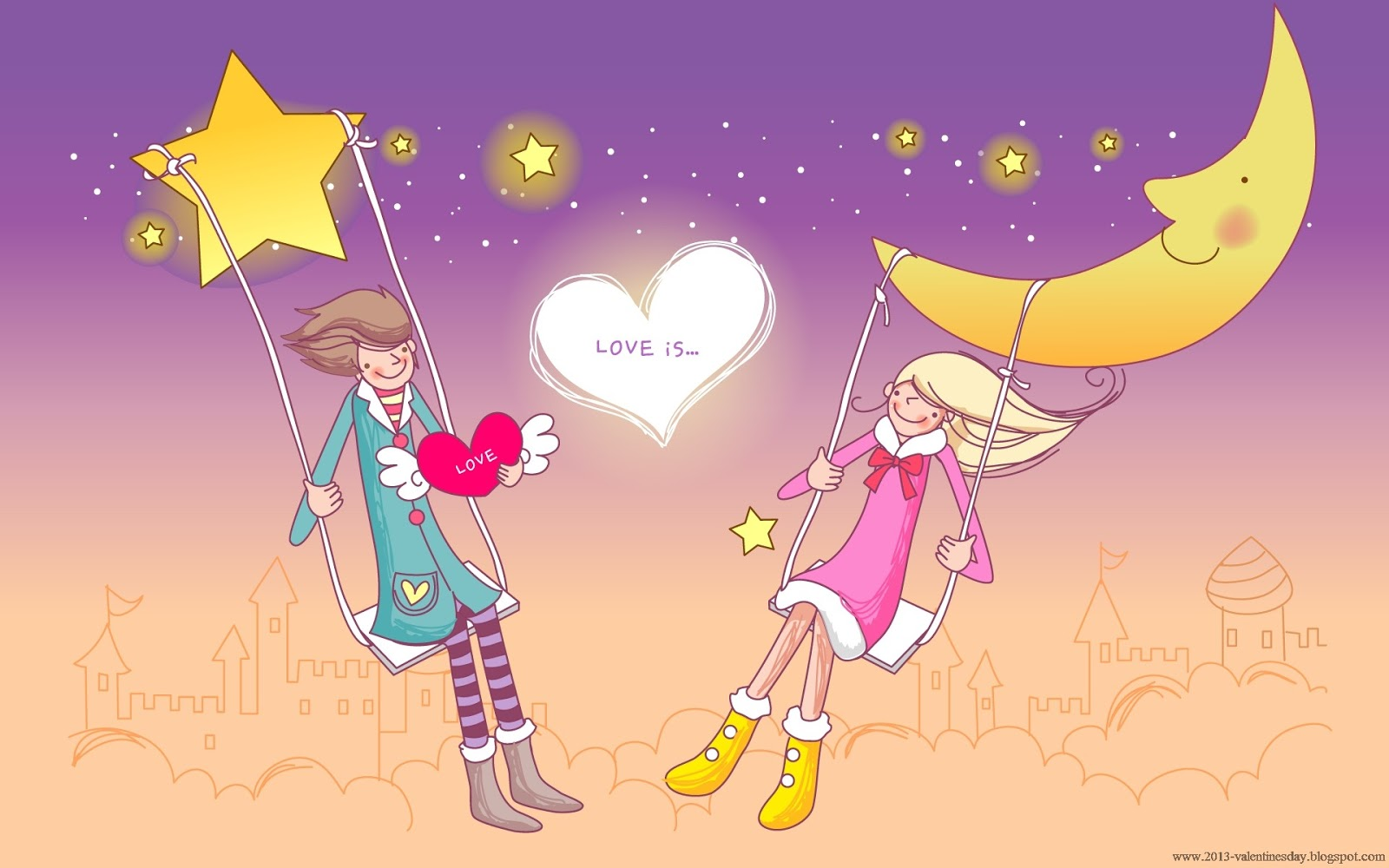 Cute Cartoon Couple Love Hd wallpapers for Valentines day 1600x1000