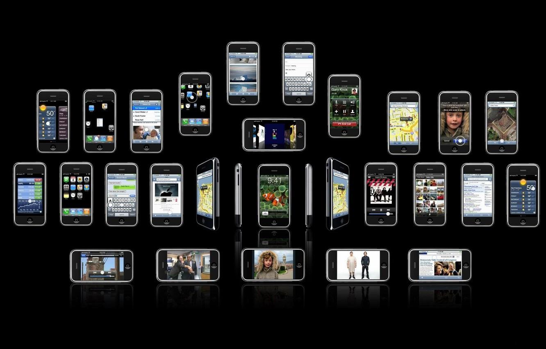 Wallpaper iphone brand phones iPhones telefonchiki cell 1332x850
