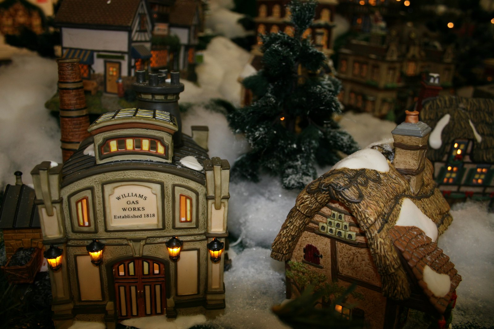 Download Christmas Buildings wallpaper Christmas Village 1600x1067