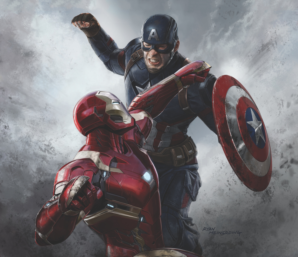 Captain America Civil War Bilder Iron Man vs Captain America HD 999x864