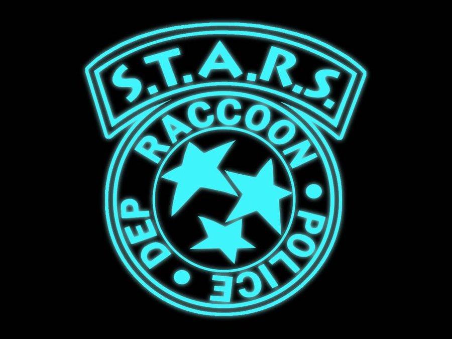 Stars Resident Evil Logo Stars neon logo wallpaper by 900x675