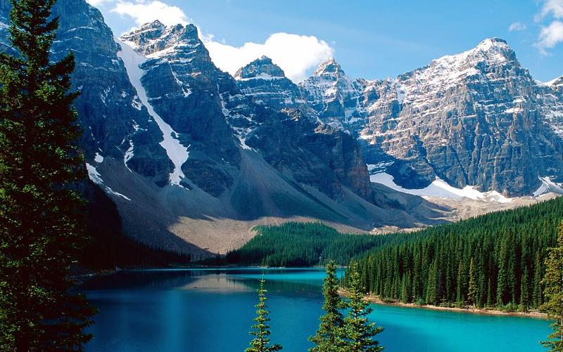 moraine lake banff national park canada 800x480 wallpaper screensaver 800x501