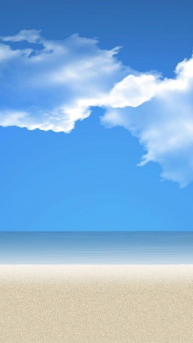 Wallpaper Weekends Flat Beach Scenes for the Modern iOS MacTrast 640x1136