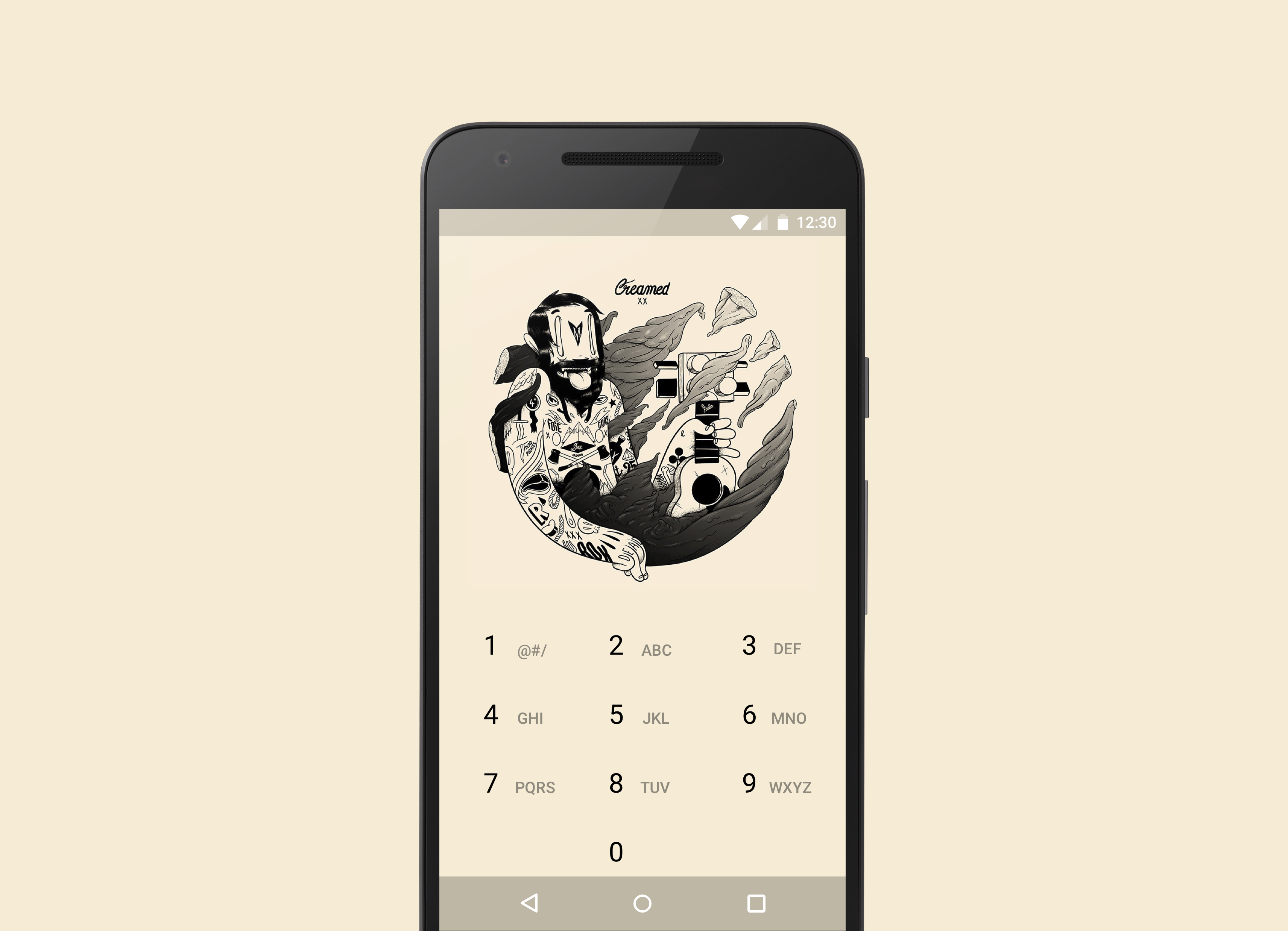 Keeping it clean with Peek Launcher and McBess androidthemes 3424x2476