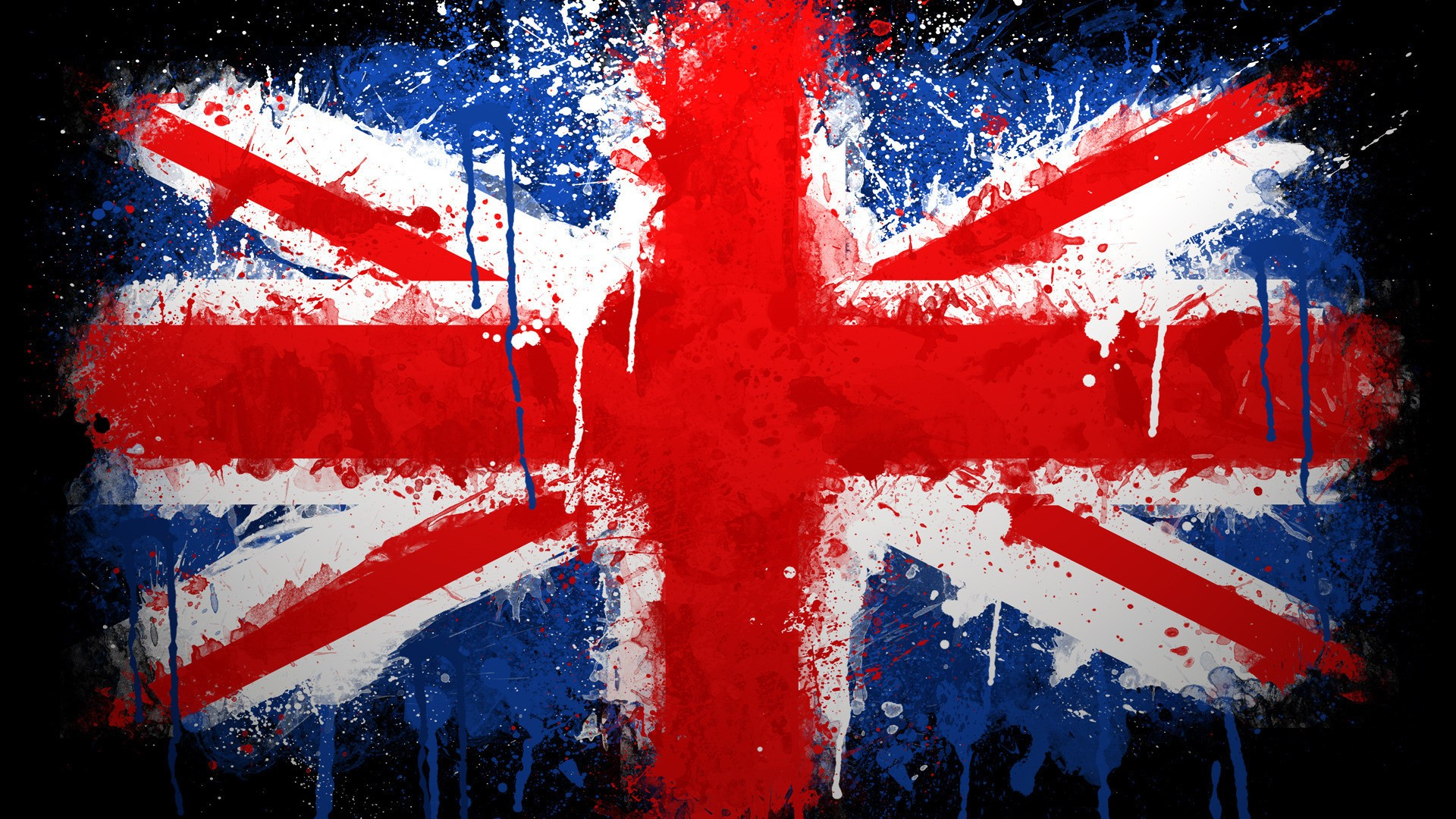flags United Kingdom paintwork wallpaper background 1920x1080