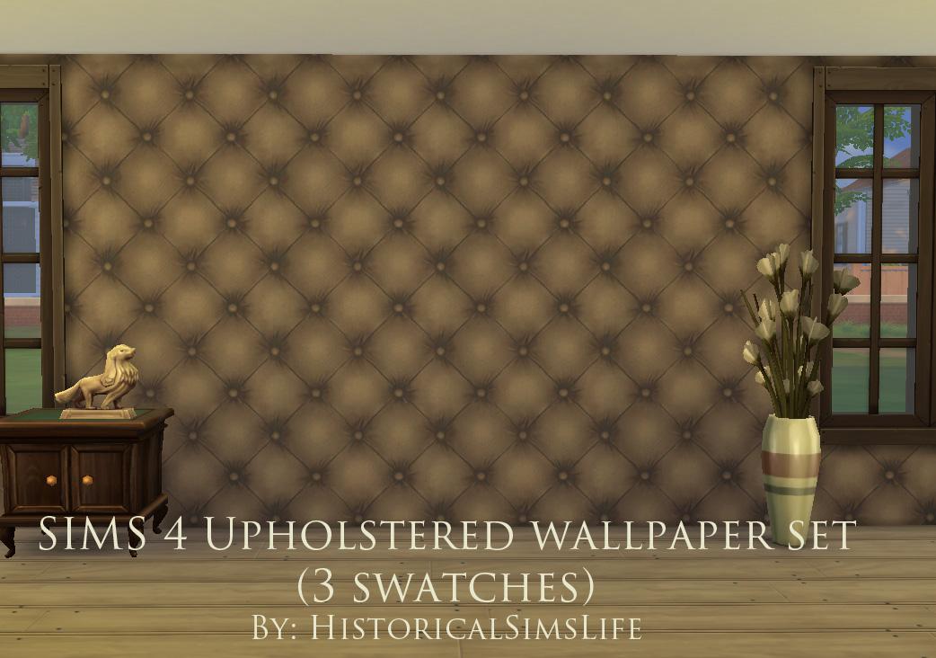 Mod The Sims   Upholstered Panels   Wallpaper Set 1042x732
