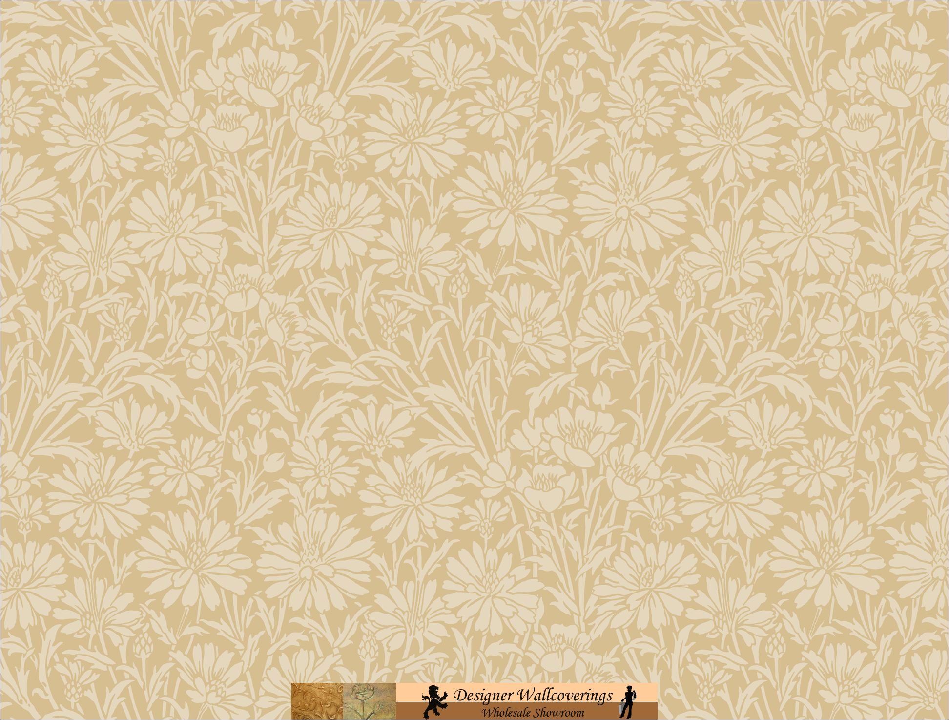 DIANA DAISY WALL PAPER [TAG 11017] Designer Wallcoverings 1944x1474
