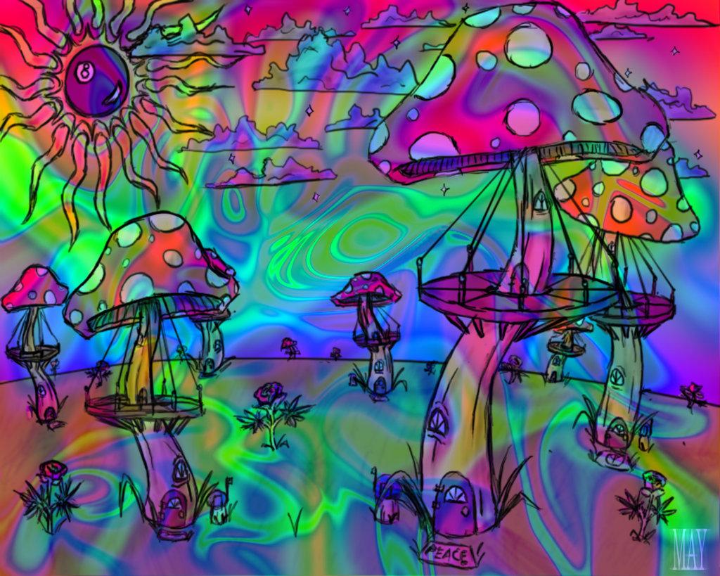 Psychedelic Mushrooms wallpaper 59999 1024x819