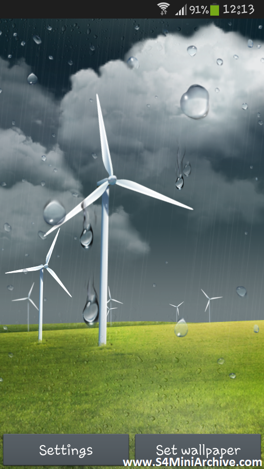 Windy Weather LWP APK for Samsung Galaxy S4 mini Galaxy S4 Mini 540x960