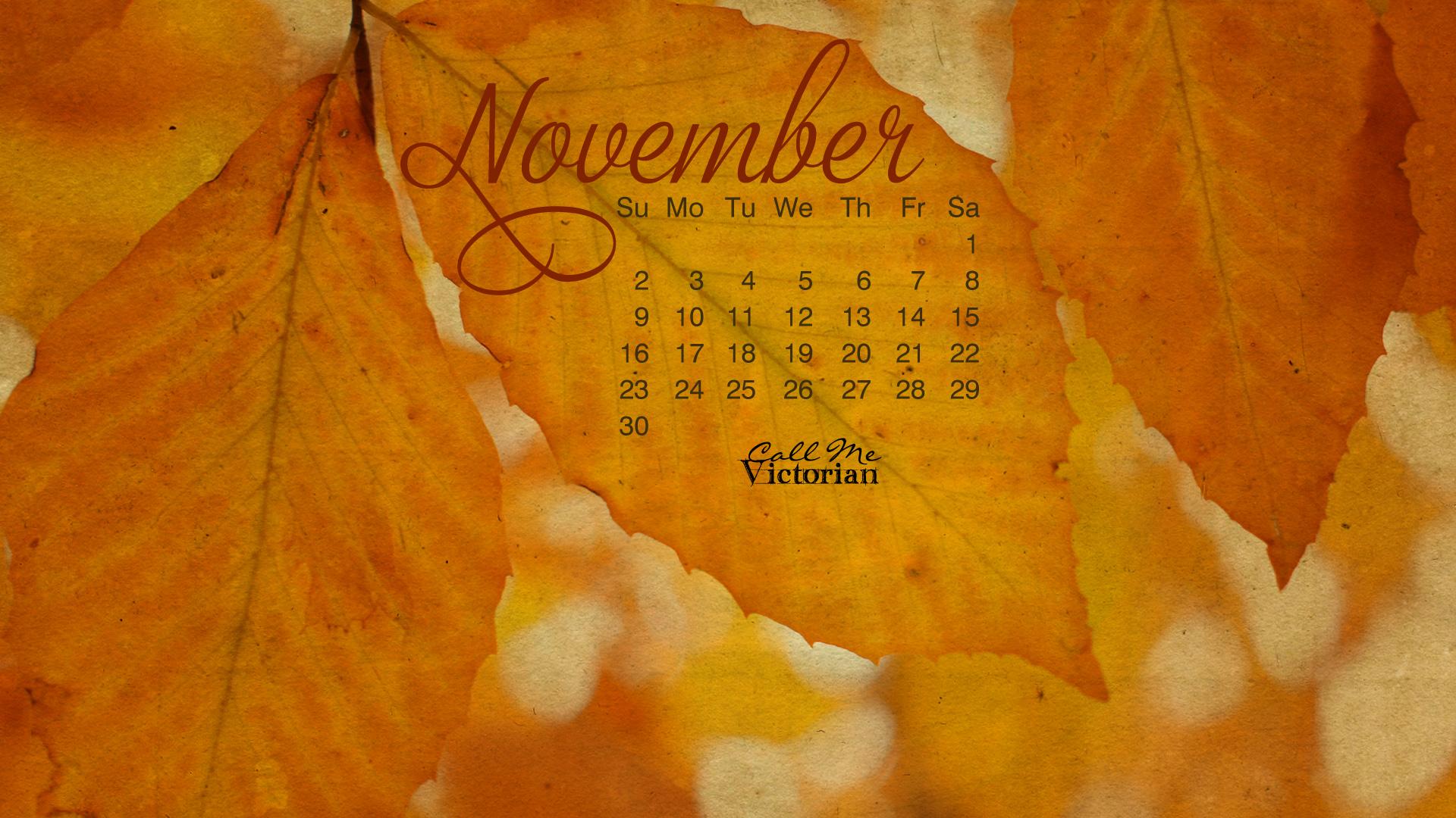 November 2015 Calendars, Wallpapers – free Download