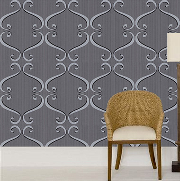 20 Eye Catching Wallpapered Rooms 600x603