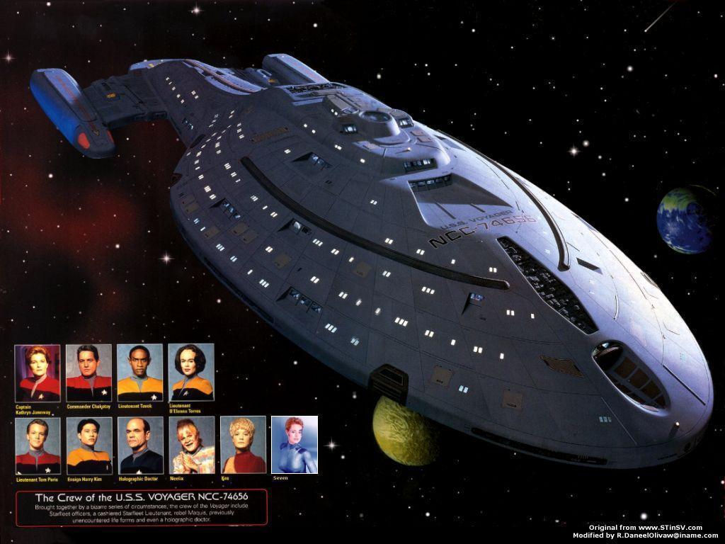Free Download Voyager Crew Star Trek Voyager Wallpaper