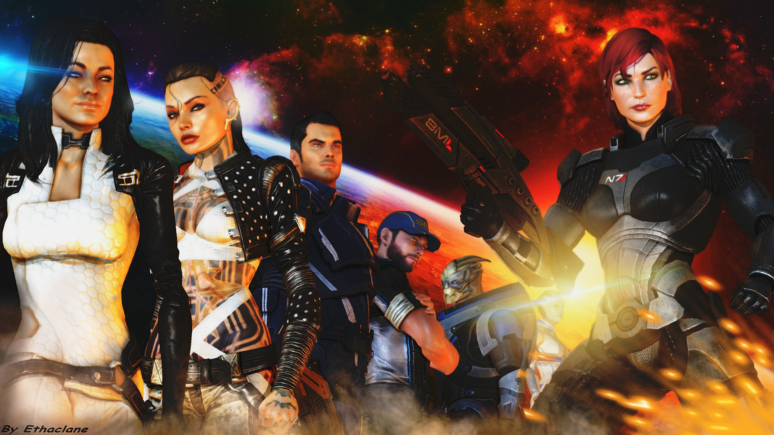 Free Download Mass Effect Wallpaper Femshep Version By Ethaclane