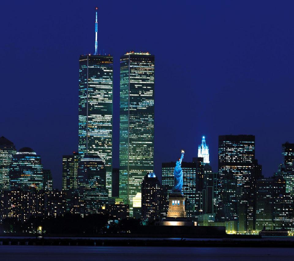 5760x1200 Wallpaper: New York Twin Towers Wallpaper