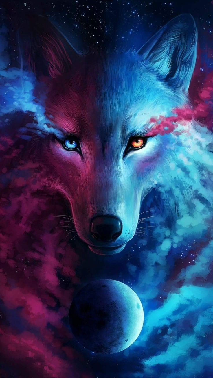 Pin by Evens Jane on Nature Wolf Wolf hoodie Galaxy wolf 736x1308