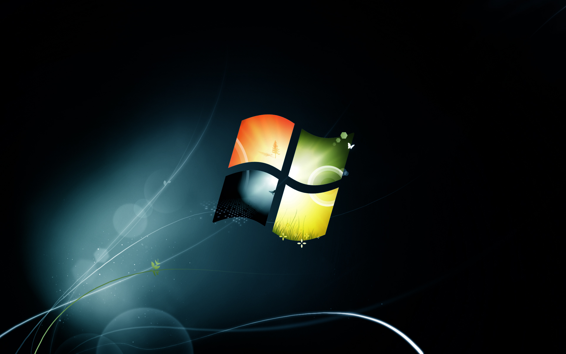 file name windows 7 black wallpaper posted piph category windows 1920x1200