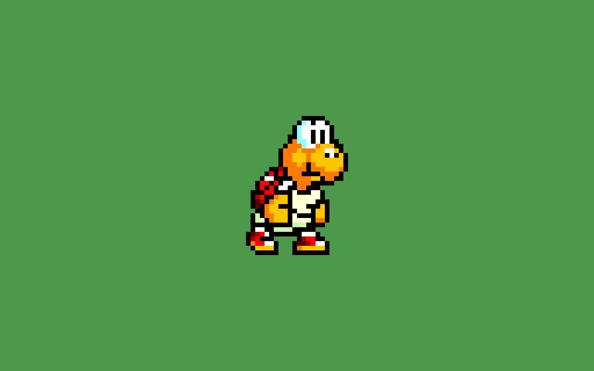 Turtle 16-Bit Green Mario Koopa Troopa Nintendo SNES HD ...