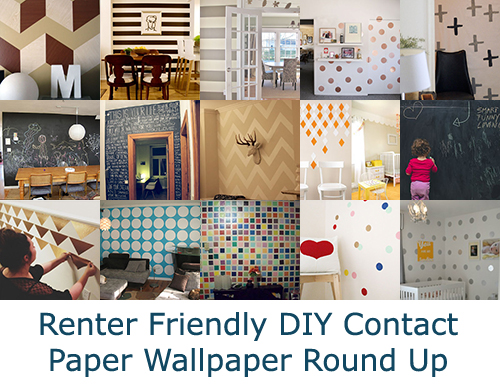 When You Cant Paint Part 2 Contact Paper Wallpaper Temporary Digs 500x387