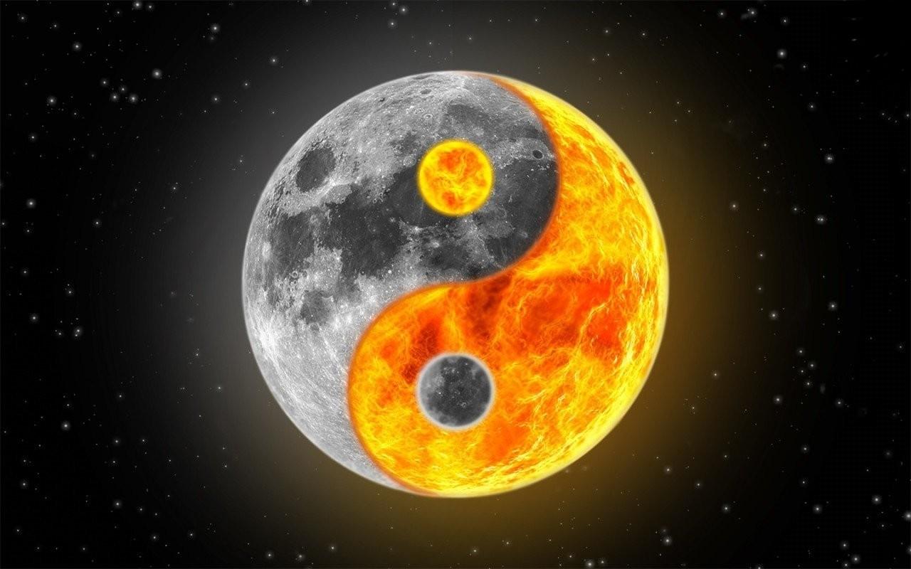 SUN & MOON YING-YANG wallpaper - ForWallpaper.com