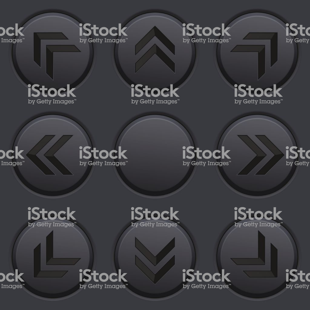 Black Arrows Key Pad On Dark Matted Plastic Background Stock 1024x1024