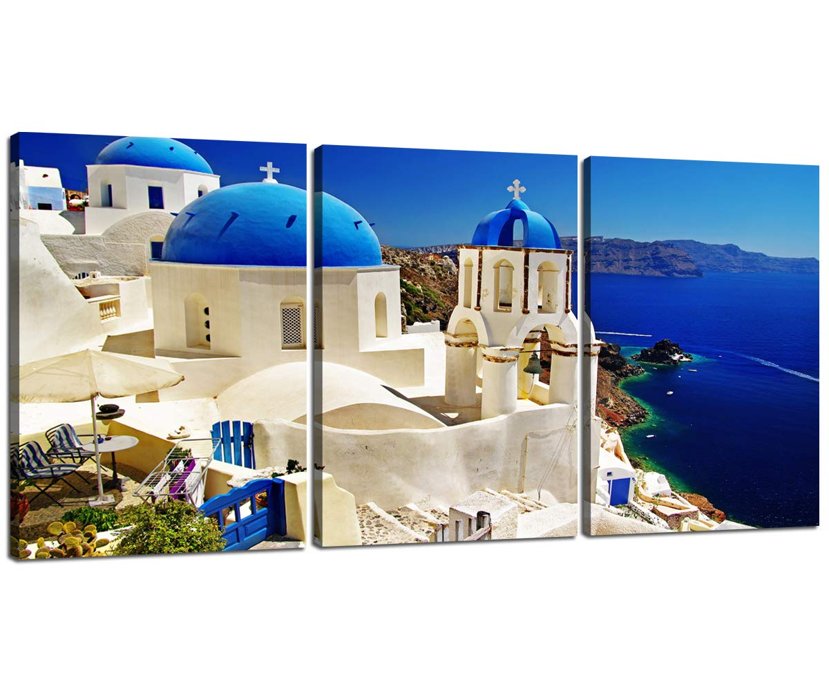 Amazoncom Greece Mediterranean Scenery Canvas Art Wall Decor 1200x1000