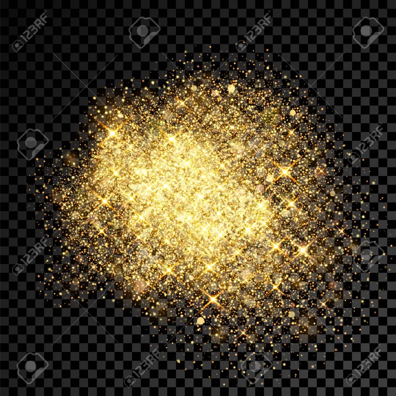 Gold Glitter Splatter Of Golden Fireworks And Shining Star 1300x1299