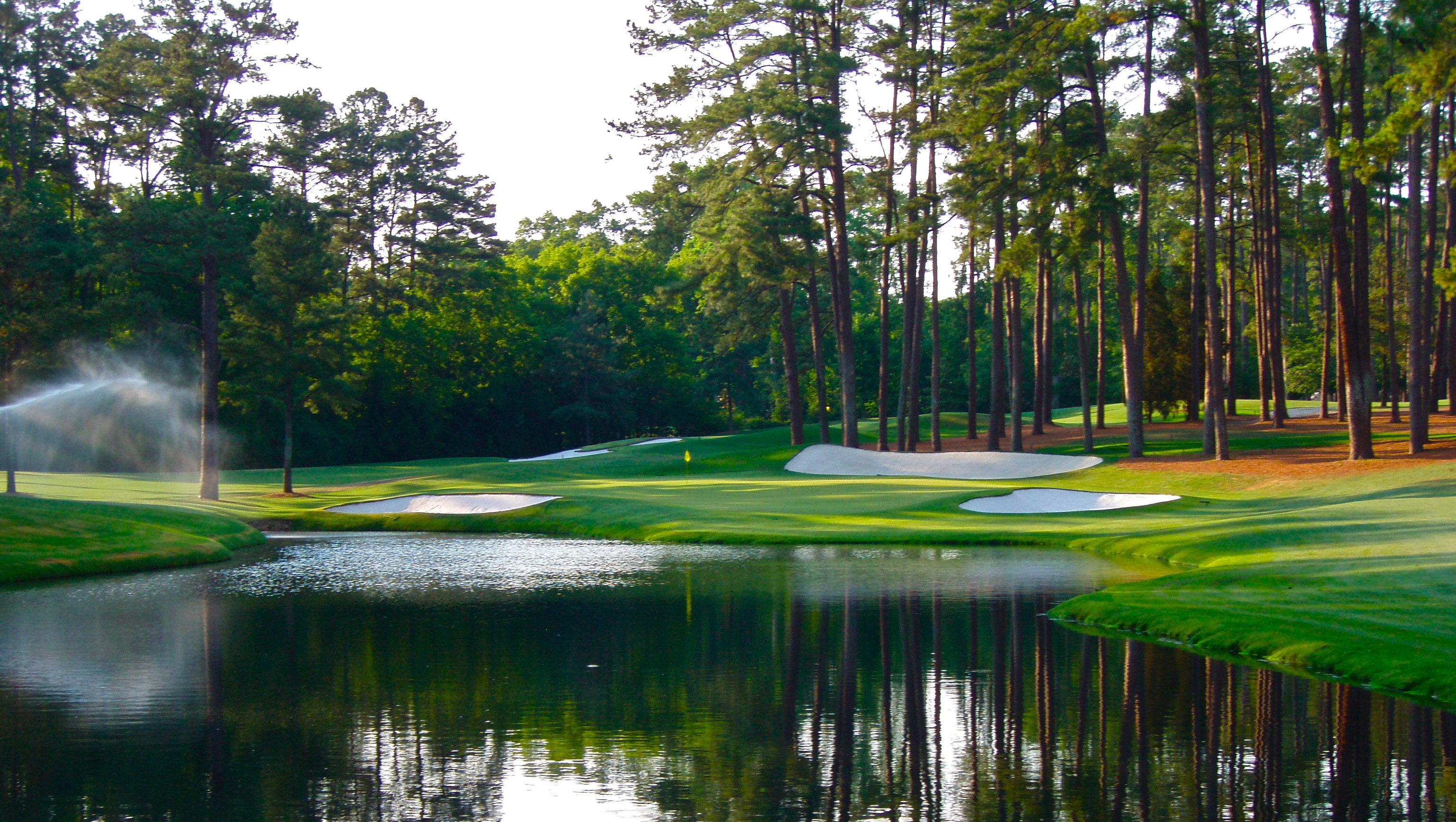 national golf course wallpaper stunning reflections masters 2013