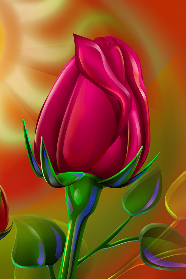 download Red Rose wallpapers for iphone 4 640x960