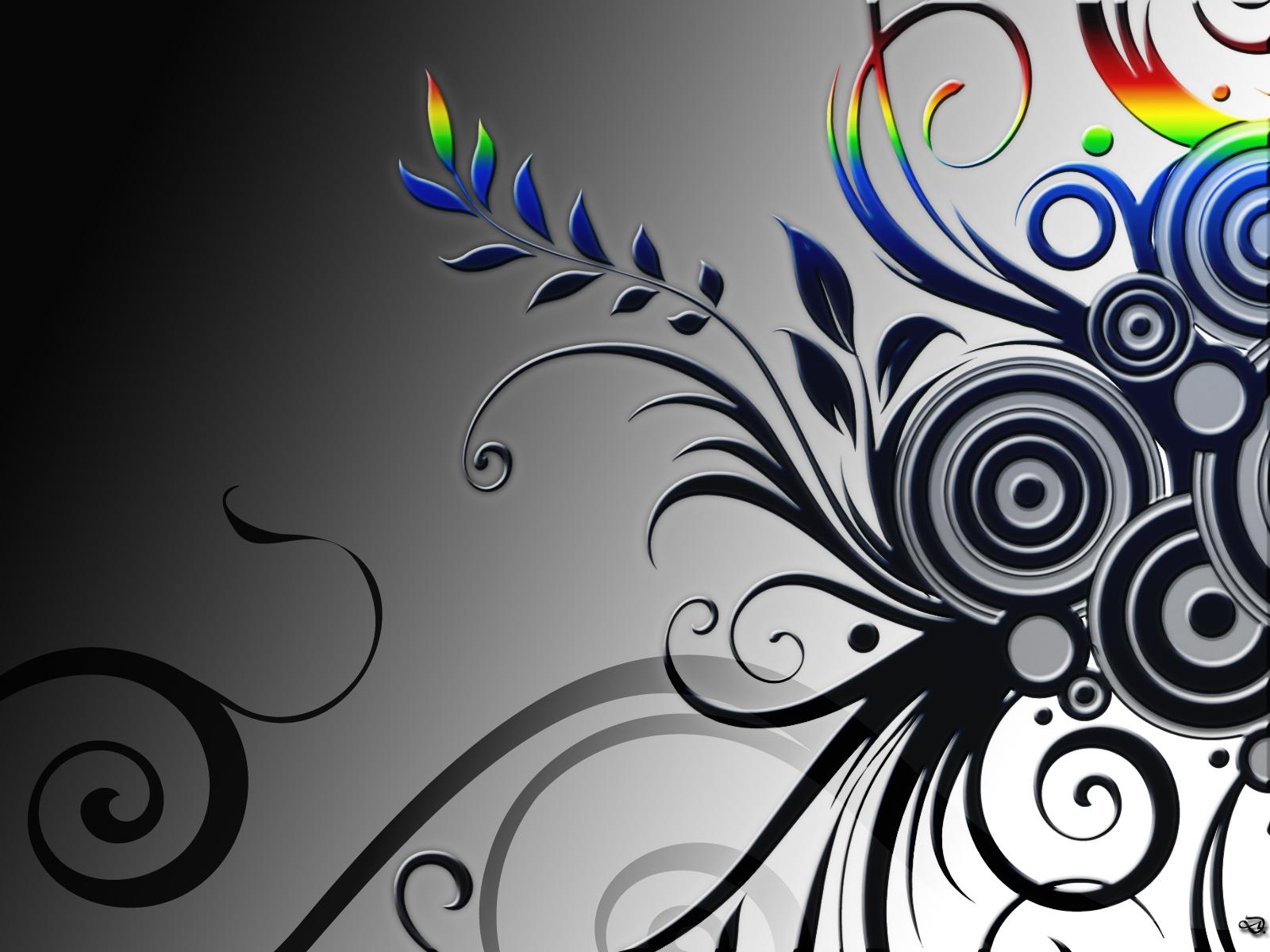 Black and White Vines desktop wallpaper 1600x1200