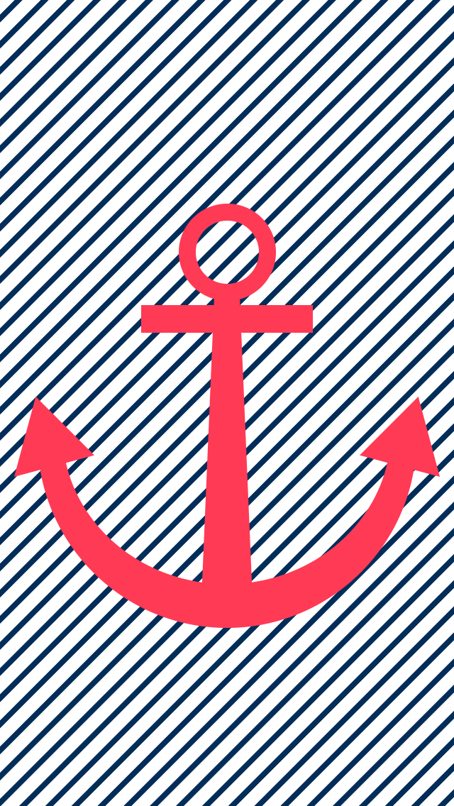 Anchor phone wallpapers   Striped anchor wallpaper 640x1136