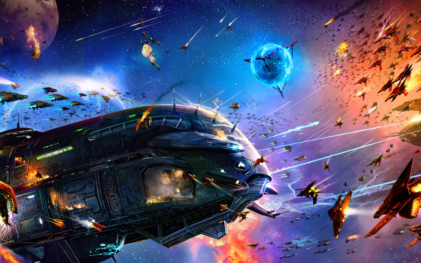 download space battle wallpaper which is under the space wallpapers 1680x1050