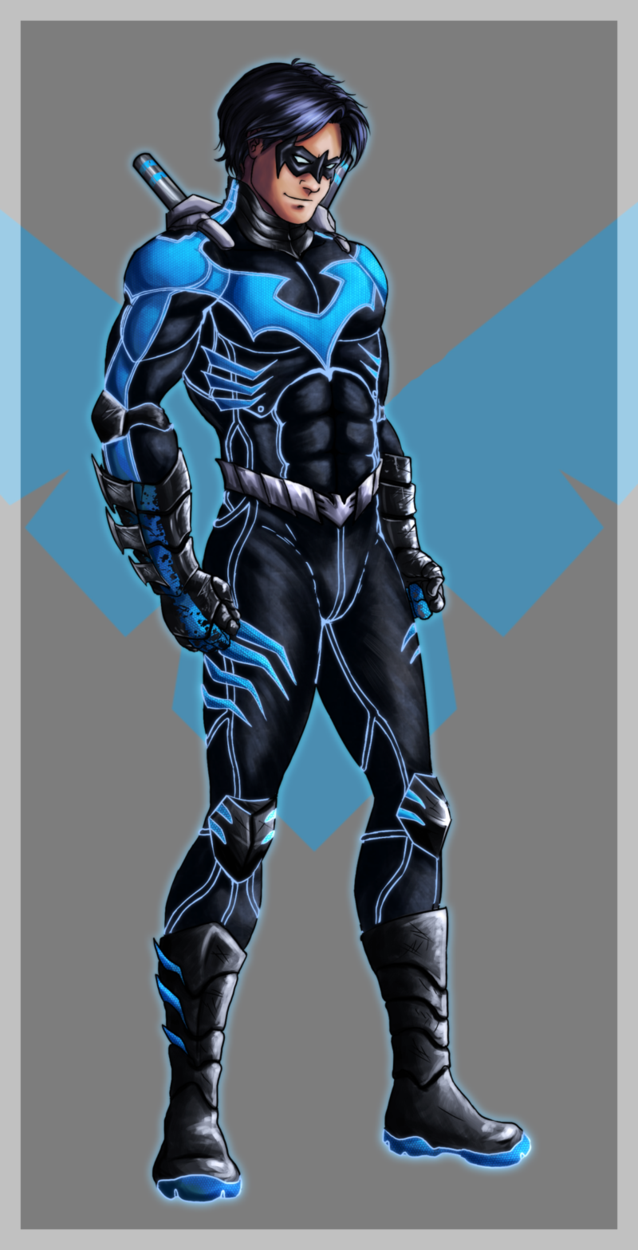 Nightwing Redesign by ForgeInFlames 638x1250