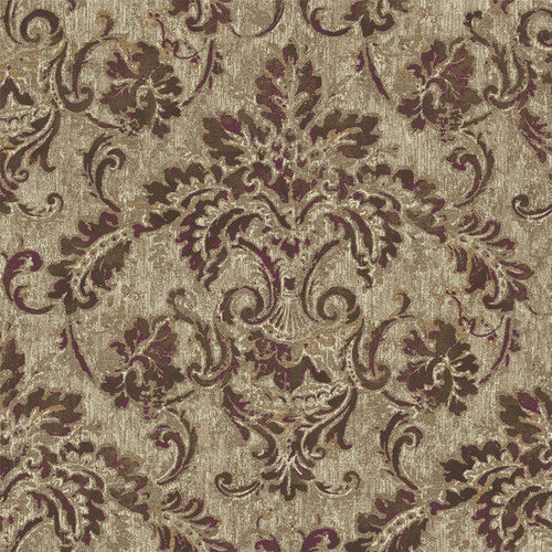 York Wallcoverings French Dressing Antique Damask Wallpaper Out of 500x500