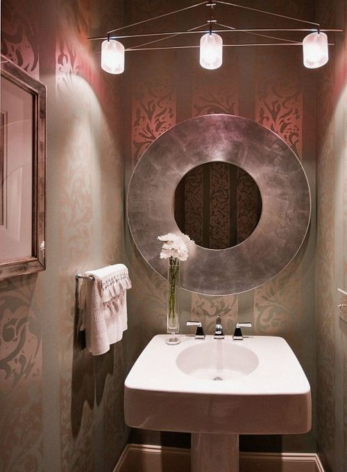 My Home Reference small powder room wallpaper ideas My Home 500x680