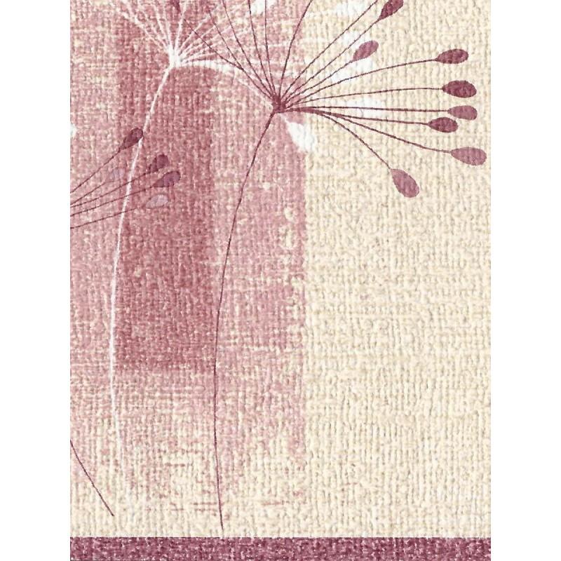 Home Borders Floral Dandelion Textured Cream Pink Border 800x800