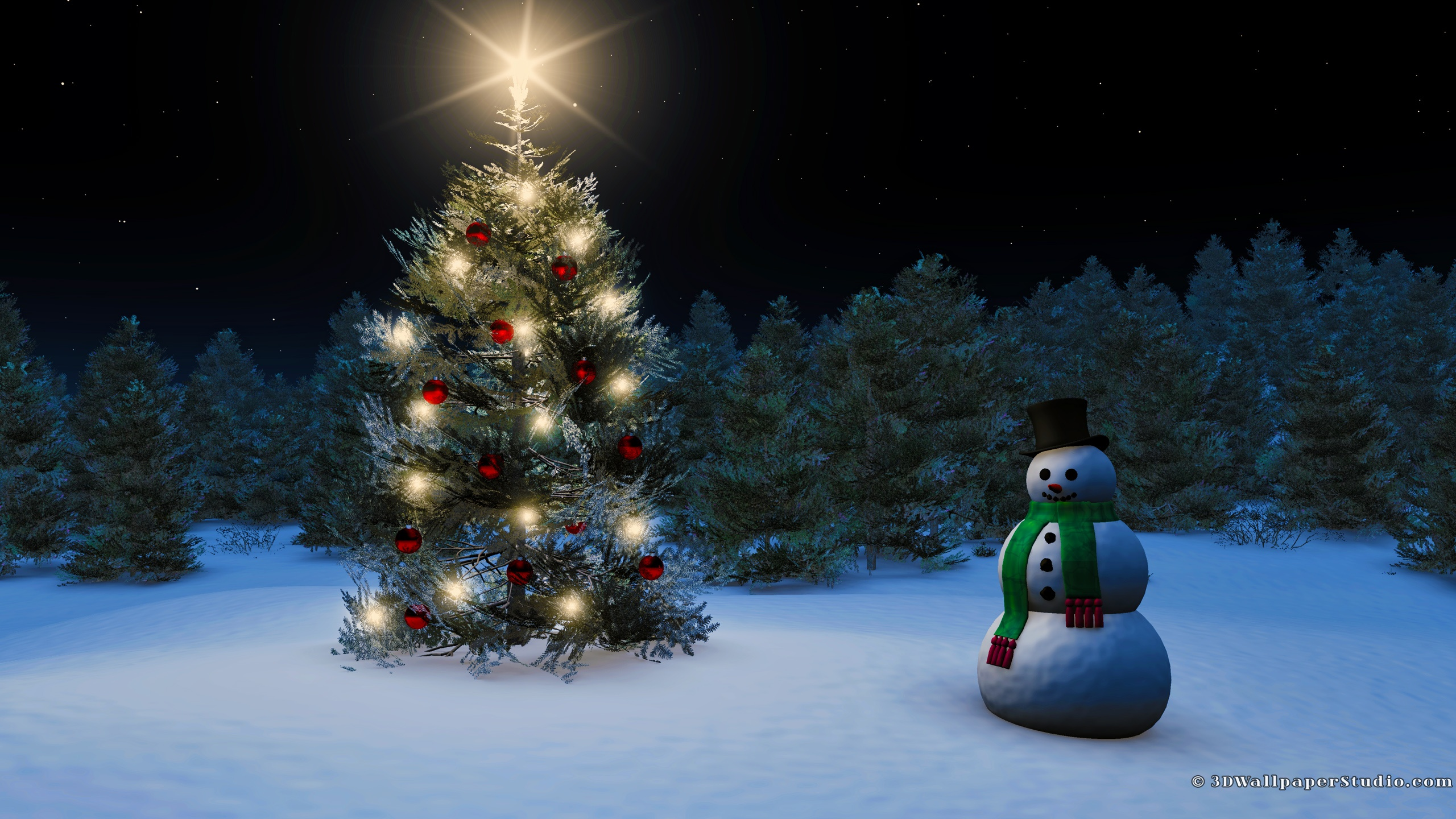 Christmas wallpaper in 2560x1440 screen resolution 2560x1440