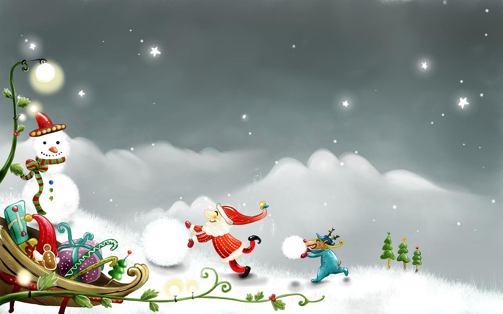 Winter Christmas Desktop Backgrounds 10696 Wallpaper Wallpaper hd 1680x1050