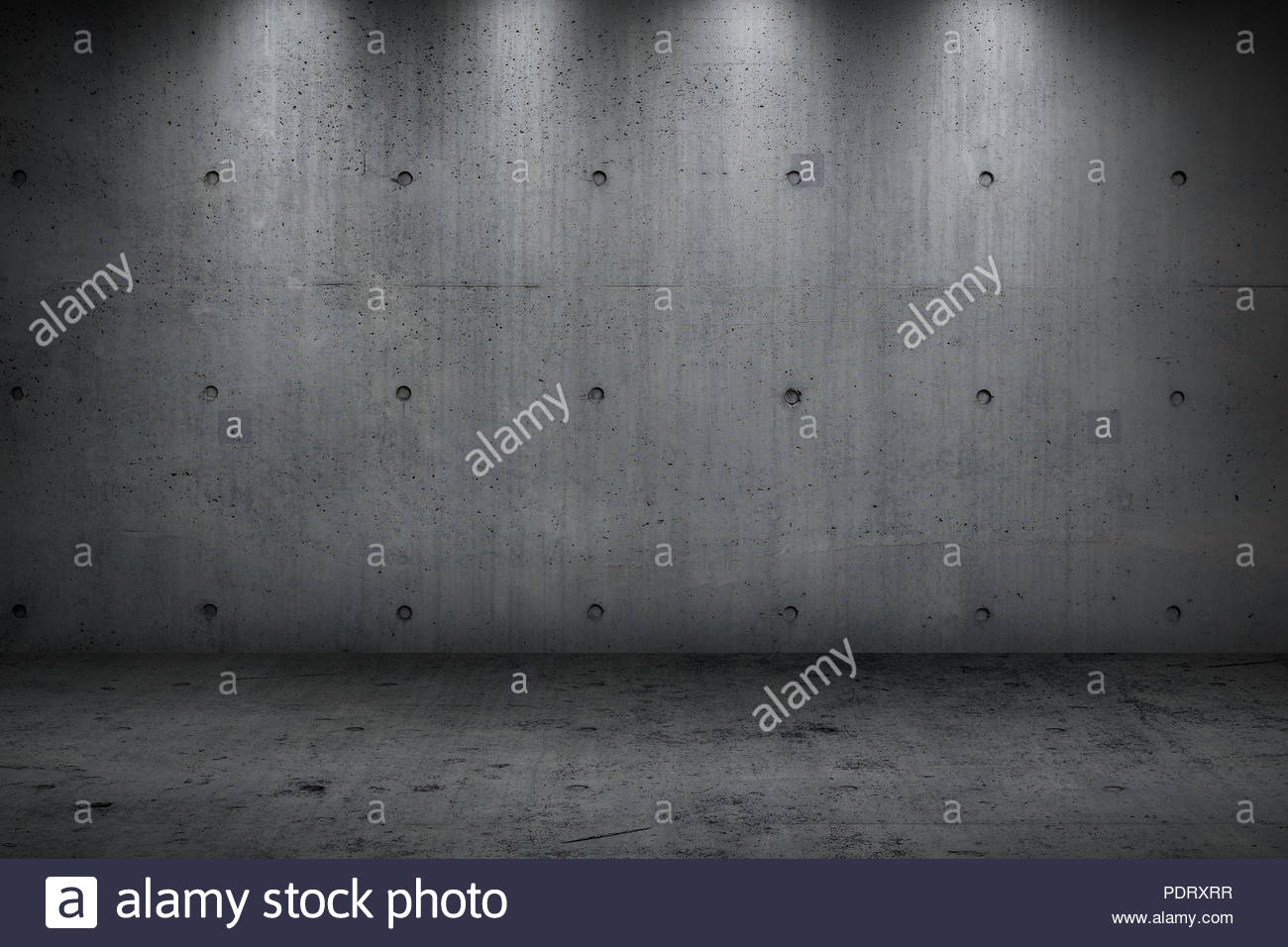 concrete wall building dark strong room for background Stock Photo 1300x956