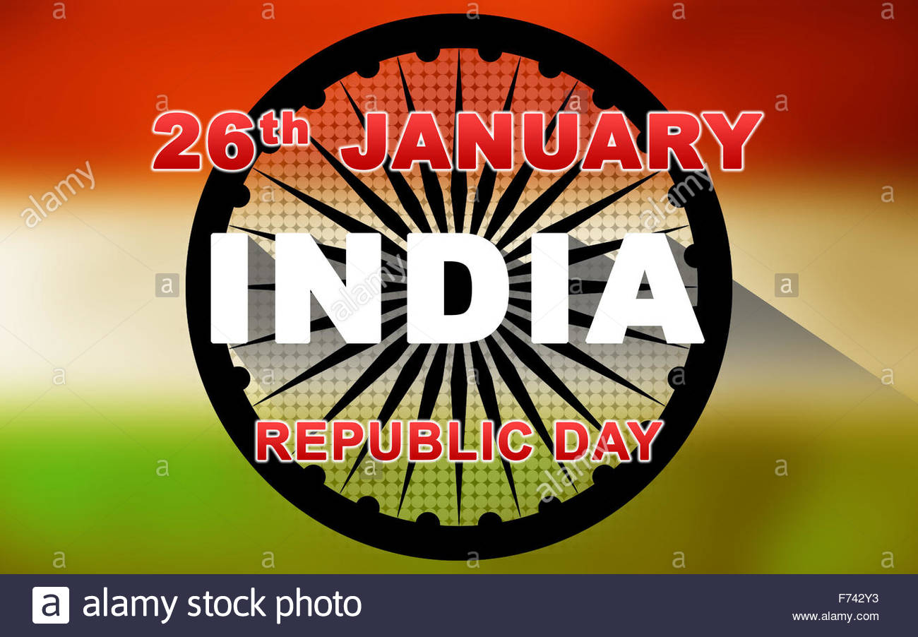 Indian Republic Day Wallpaper Vector Illustration with Ashoka 1300x902