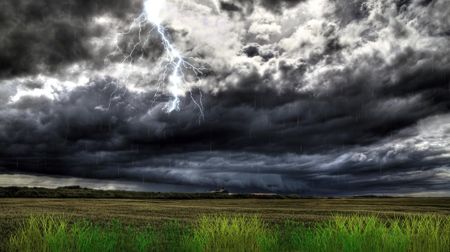 Download Thunderstorm Field Animated Wallpaper 1474x825
