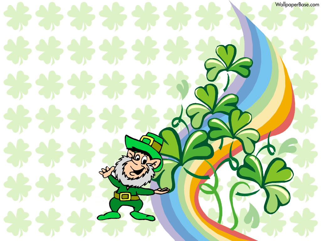 Get Lucky with Leprechaun Desktop Wallpaper for St Patricks Day 1024x768