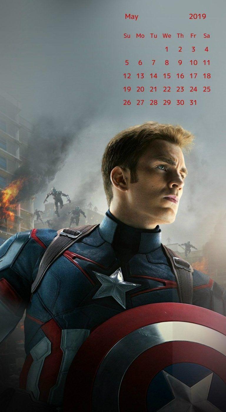 may 2019 iphone calendar wallpaper Wallpaper Captain America 768x1399
