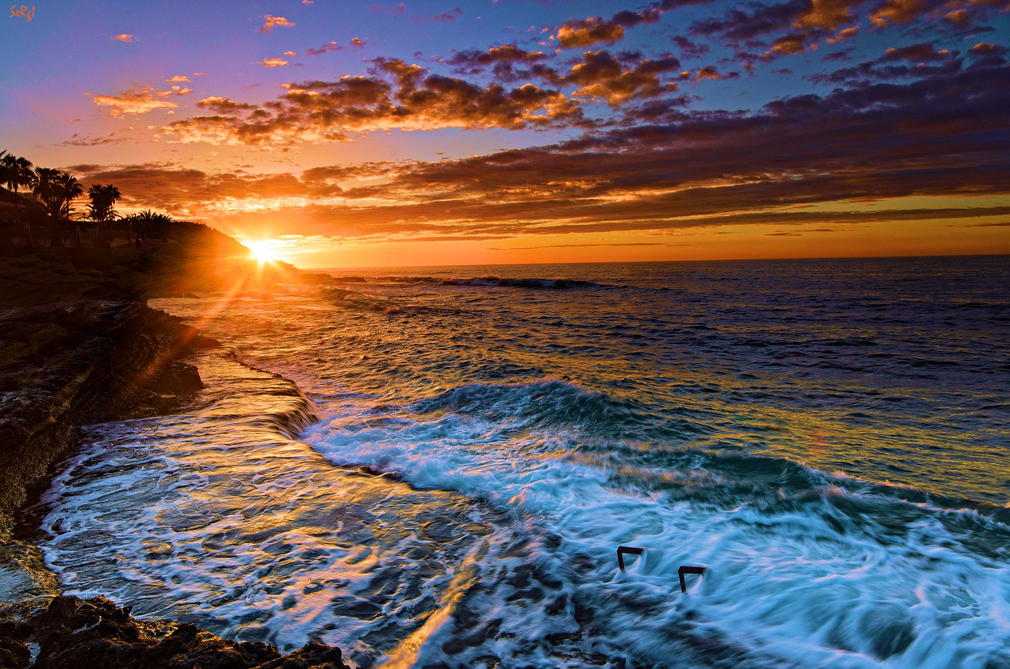 Download Sunset Beaches Backgrounds Wallpapercraft 2048x1356