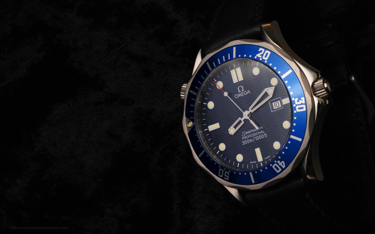 Omega 254180 Seamaster James Bond watch image computer wallpaper 1280x800