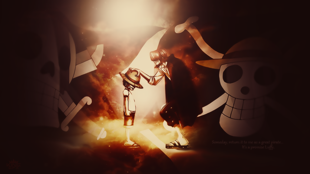 Shanks and Luffy Desktop Wallpaper One Piece by WHU Dan on 1024x576