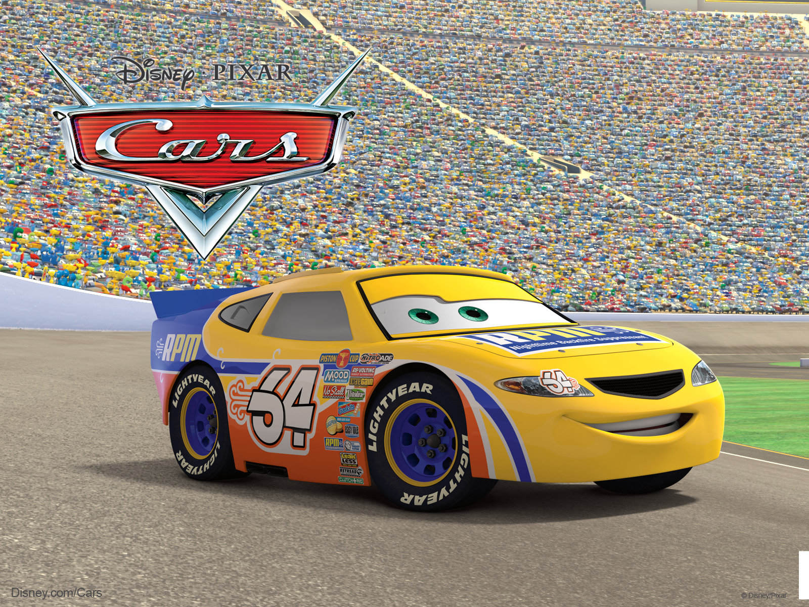 Free Download Winford Rutherford Race Car From Pixar Cars Movie
