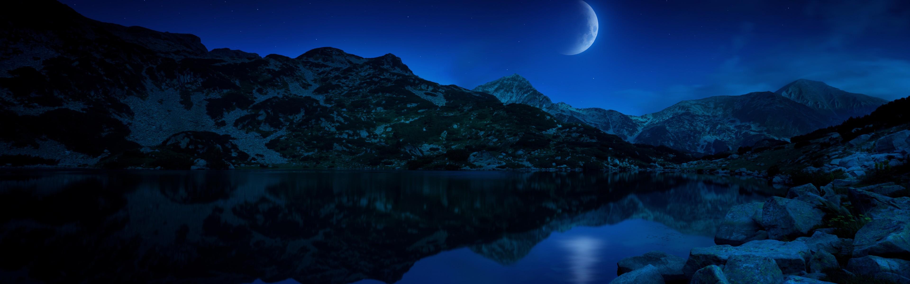 Windows nighttime wallpaper 3840x1200 62917 WallpaperUP 3840x1200